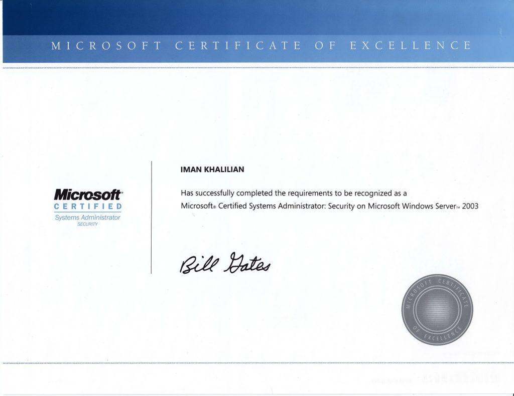 MCSA Security on Windows Server 2003
