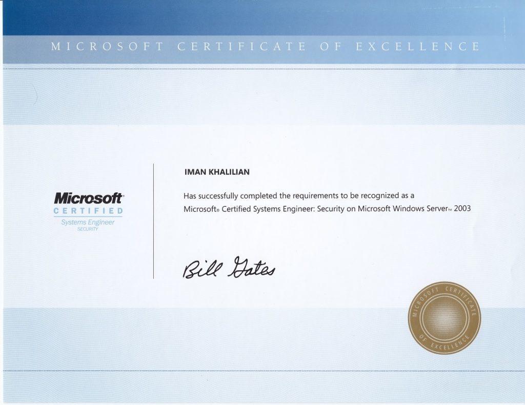 MCSE Security on Windows Server 2003
